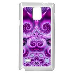 Purple Ecstasy Fractal Samsung Galaxy Note 4 Case (White)