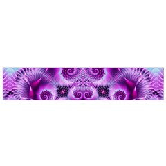Purple Ecstasy Fractal Flano Scarf (Small)