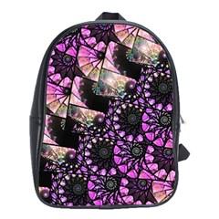 Hippy Fractal Spiral Stacks School Bag (large)