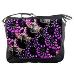 Hippy Fractal Spiral Stacks Messenger Bag