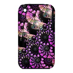 Hippy Fractal Spiral Stacks Apple iPhone 3G/3GS Hardshell Case (PC+Silicone)