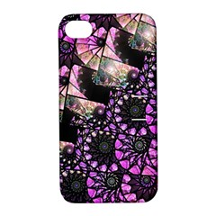 Hippy Fractal Spiral Stacks Apple Iphone 4/4s Hardshell Case With Stand