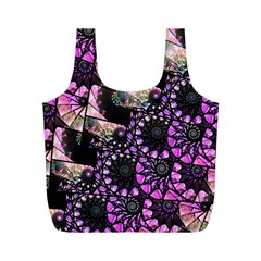Hippy Fractal Spiral Stacks Reusable Bag (m)