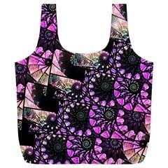 Hippy Fractal Spiral Stacks Reusable Bag (xl)