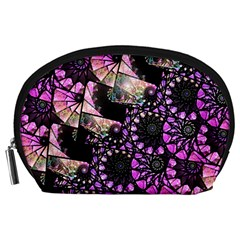 Hippy Fractal Spiral Stacks Accessory Pouch (large)