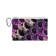 Hippy Fractal Spiral Stacks Canvas Cosmetic Bag (small)