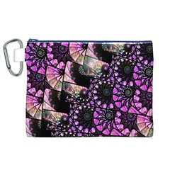 Hippy Fractal Spiral Stacks Canvas Cosmetic Bag (XL)