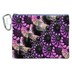 Hippy Fractal Spiral Stacks Canvas Cosmetic Bag (XXL)