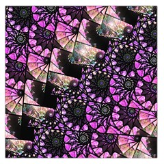 Hippy Fractal Spiral Stacks Large Satin Scarf (Square)