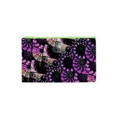 Hippy Fractal Spiral Stacks Cosmetic Bag (XS)