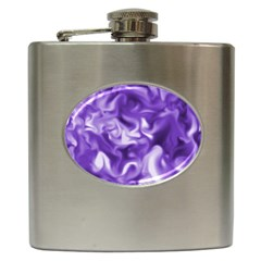 Lavender Smoke Swirls Hip Flask