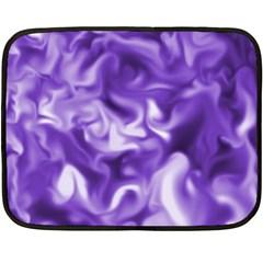 Lavender Smoke Swirls Mini Fleece Blanket (two Sided)