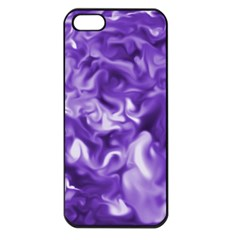 Lavender Smoke Swirls Apple Iphone 5 Seamless Case (black)