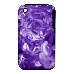 Lavender Smoke Swirls Apple Iphone 3g/3gs Hardshell Case (pc+silicone)