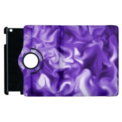 Lavender Smoke Swirls Apple iPad 2 Flip 360 Case