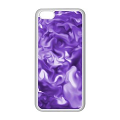 Lavender Smoke Swirls Apple Iphone 5c Seamless Case (white)