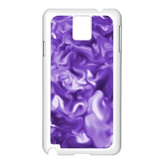 Lavender Smoke Swirls Samsung Galaxy Note 3 N9005 Case (white)