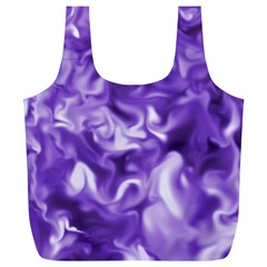 Lavender Smoke Swirls Full Print Recycle Bag (xl)