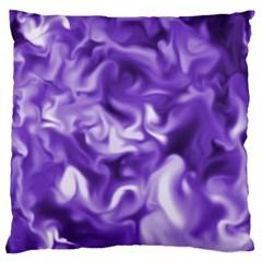 Lavender Smoke Swirls Large Flano Cushion Case (One Side)
