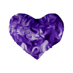 Lavender Smoke Swirls Standard 16  Premium Flano Heart Shape Cushion