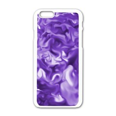 Lavender Smoke Swirls Apple Iphone 6 White Enamel Case