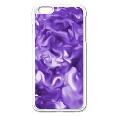 Lavender Smoke Swirls Apple Iphone 6 Plus Enamel White Case