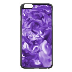 Lavender Smoke Swirls Apple Iphone 6 Plus Black Enamel Case