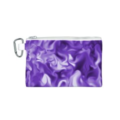 Lavender Smoke Swirls Canvas Cosmetic Bag (Small)