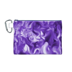 Lavender Smoke Swirls Canvas Cosmetic Bag (Medium)