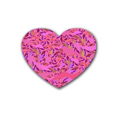 Bright Pink Confetti Storm Drink Coasters 4 Pack (heart)