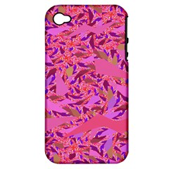 Bright Pink Confetti Storm Apple Iphone 4/4s Hardshell Case (pc+silicone)