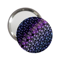 Dusk Blue And Purple Fractal Handbag Mirror (2 25 )