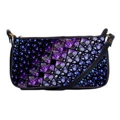 Dusk Blue And Purple Fractal Evening Bag