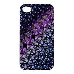 Dusk Blue And Purple Fractal Apple Iphone 4/4s Hardshell Case