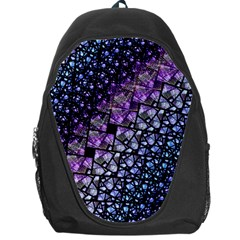 Dusk Blue And Purple Fractal Backpack Bag