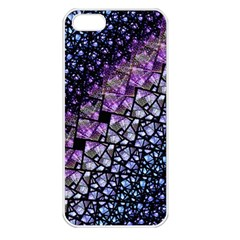 Dusk Blue And Purple Fractal Apple Iphone 5 Seamless Case (white)
