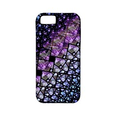 Dusk Blue And Purple Fractal Apple Iphone 5 Classic Hardshell Case (pc+silicone)