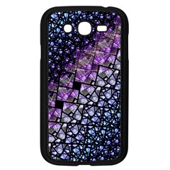 Dusk Blue And Purple Fractal Samsung Galaxy Grand Duos I9082 Case (black)