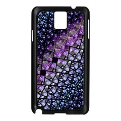 Dusk Blue And Purple Fractal Samsung Galaxy Note 3 N9005 Case (black)