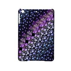 Dusk Blue and Purple Fractal Apple iPad Mini 2 Hardshell Case