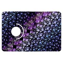 Dusk Blue and Purple Fractal Kindle Fire HDX Flip 360 Case