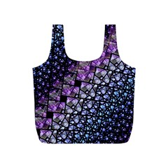 Dusk Blue And Purple Fractal Full Print Recycle Bag (s)