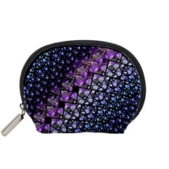 Dusk Blue and Purple Fractal Accessory Pouch (Small)