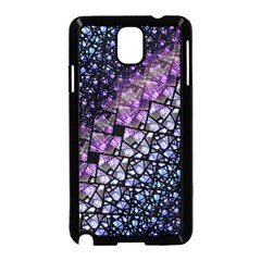 Dusk Blue and Purple Fractal Samsung Galaxy Note 3 Neo Hardshell Case (Black)