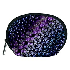 Dusk Blue and Purple Fractal Accessory Pouch (Medium)