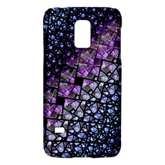 Dusk Blue And Purple Fractal Samsung Galaxy S5 Mini Hardshell Case