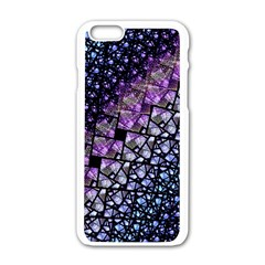 Dusk Blue And Purple Fractal Apple Iphone 6 White Enamel Case