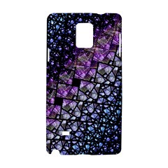 Dusk Blue and Purple Fractal Samsung Galaxy Note 4 Hardshell Case