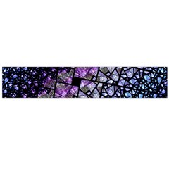 Dusk Blue And Purple Fractal Flano Scarf (large)