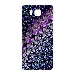 Dusk Blue and Purple Fractal Samsung Galaxy Alpha Hardshell Back Case